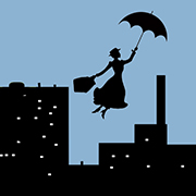 Mary Poppins leaves when the wind changes
